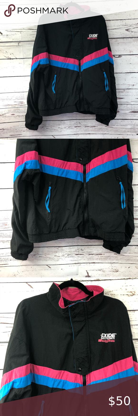 Exide Batteries Nascar Vintage Wind Breaker Jacket Jackets Windbreaker Clothes Design
