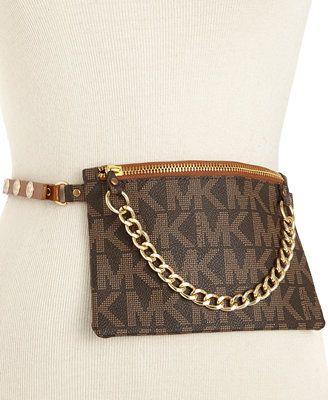 1bf4869bf69a Yessss!!!! MICHAEL Michael Kors MK Logo Leather Belt Bag Belt ...