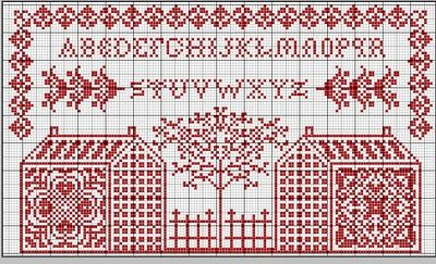 Complimentary Cross stitch pattern
