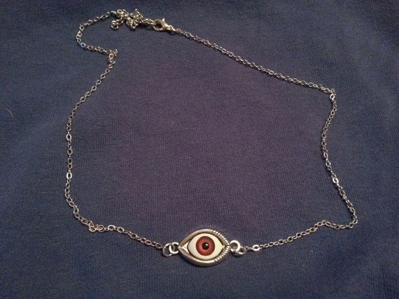 red eye necklace from ghostieTime on etsy