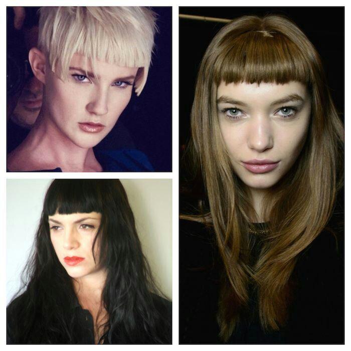 Blonde. Black. Cool beige. Hair color. With short fringe