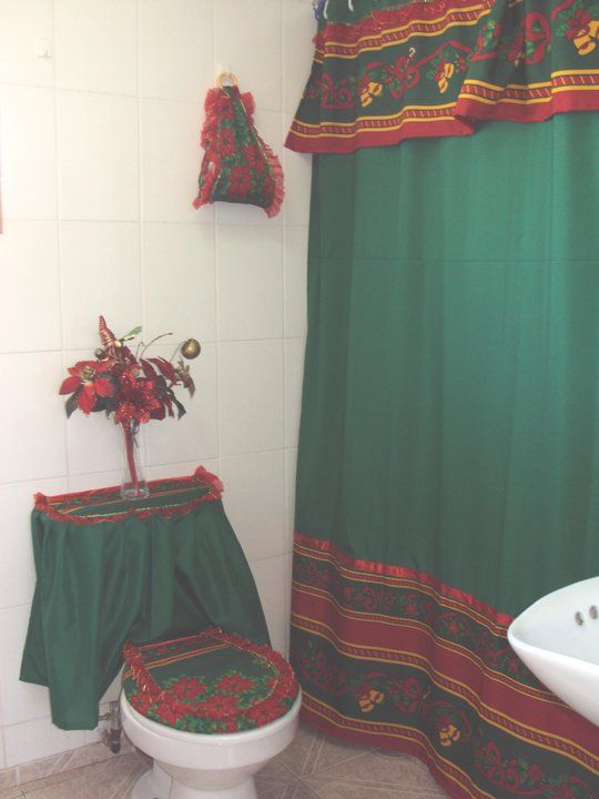 Creaciones Maria Silvia Cortinas de Navidad juego de baño en