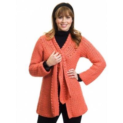 Scarf-Tied Jacket - free crochet pattern!   CrochetHolic ...