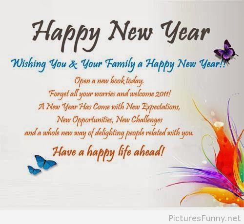 Happy New Year butterflies wallpaper wishes | Happy New Year ...