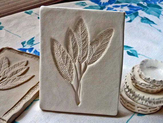Clay Sprig Sage Leaf Pottery Press Mold Push Mold Leaf Sprig Mold For Ceramic Decoration And Texture Clay Stamps Clay Pottery Pottery