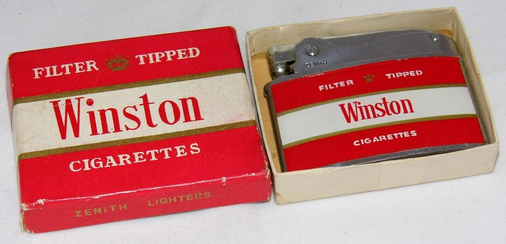 Vintage Winston Cigarettes Lighter By Zenith Lighters, Made In Japan
