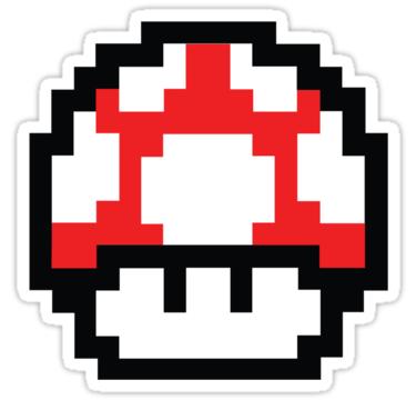 8 Bit Mario Nintendo Mushroom Red Also Buy This Artwork On Stickers Apparel Phone Cases And More Tatuagem Mario Adesivos Sticker Tatuagem Lol
