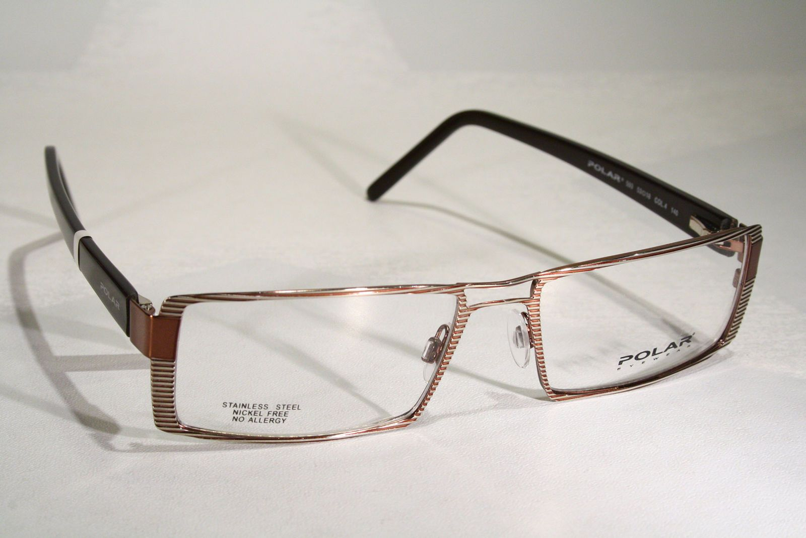 b7cebd2891c New POLAR Rich Showy Unique Hot Rectangular Gold   Copper Color Eyeglasses  Frames Glasses   eBay (RipVanW)