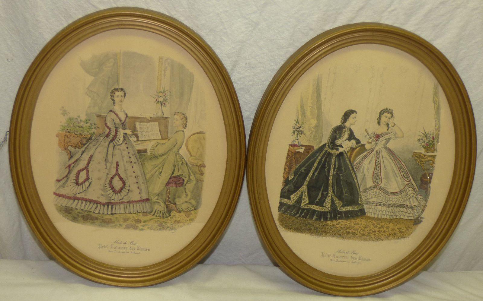 2 Oval Modes de Paris Petit Courier Colored Fashion Prints Anais Toudouze 12x15   eBay