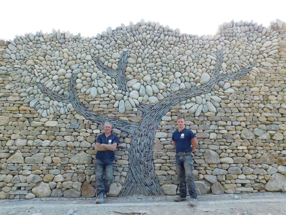 Awesome A Dry Wall Stone Tree Built From Granite And Slate By Richard Clegg Dry Stone Walling Stone Wall Art Dry Stone Wall Dry Stone