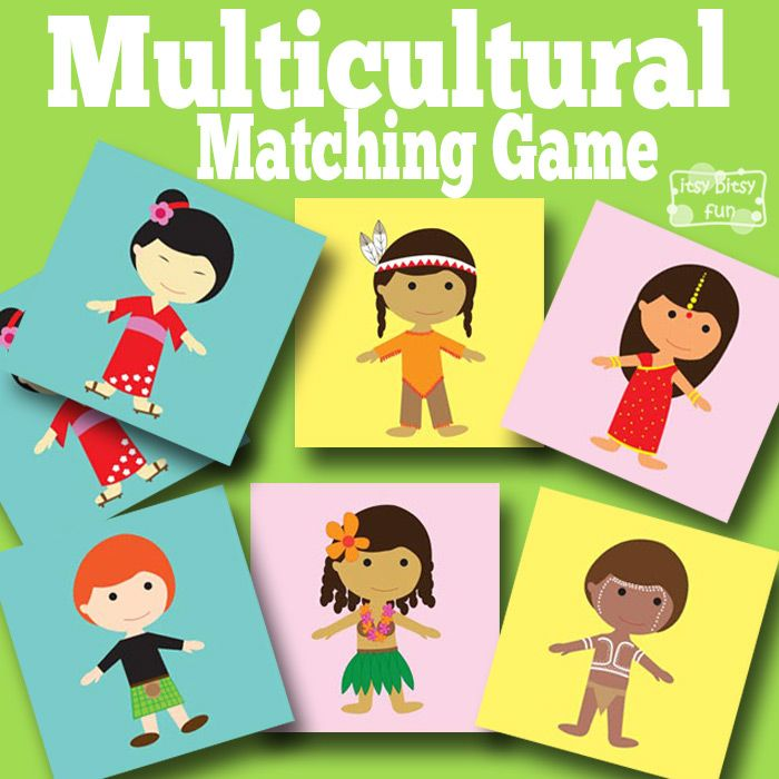 multicultural memory game a fun free printable matching game for kids to help learn about