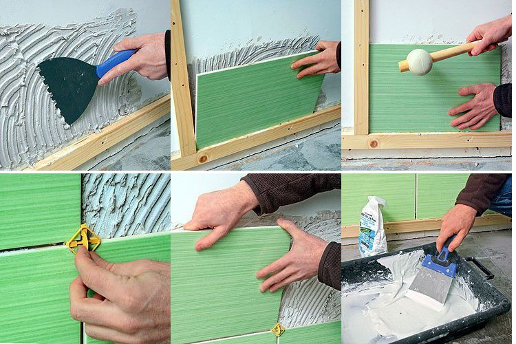 Comment poser un carrelage mural carrelage mural - Comment poser du carrelage mural cuisine ...