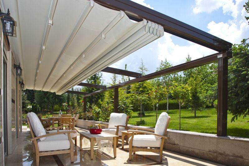 Douglas auto marine upholstery suntech retractable roof systems home improvement - Metallic pergola design ideas seven elegant choices ...