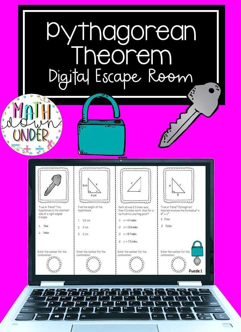 Pythagorean Theorem Distance Learning Escape Room Using ...