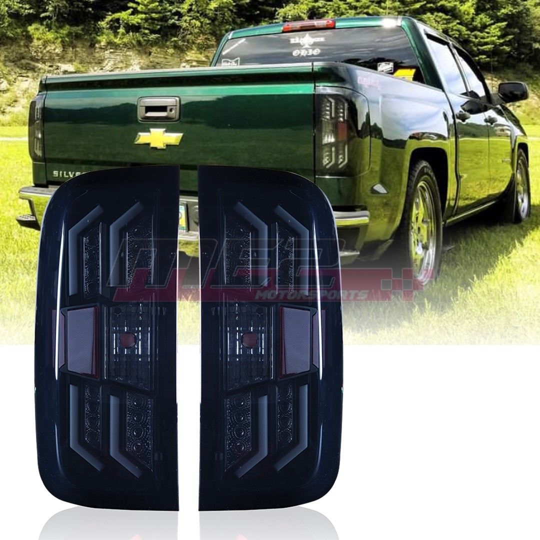 winjet oe fit for 2014 2017 chevy silverado 1500 led brake tail lights smoke ebay chevy silverado chevy gmc chevrolet truck liftedtrucks  [ 1080 x 1080 Pixel ]