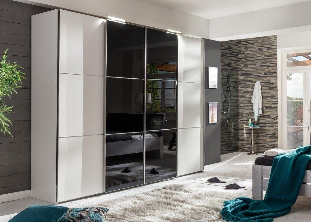 Schlafzimmerschrank Weiß ~ Kleiderschrank escape weiß schwarzglas buy now at