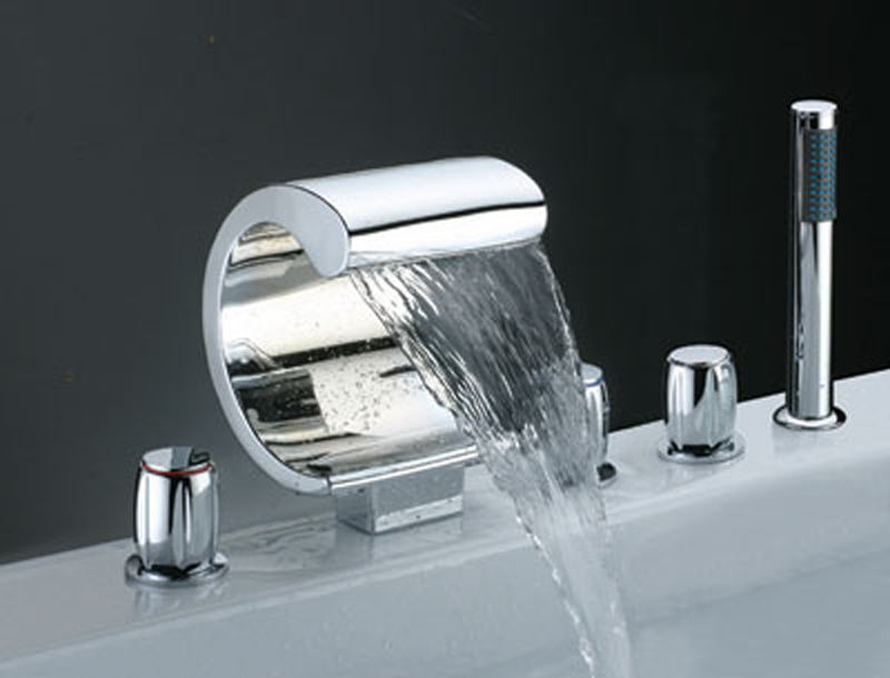 Apartment  Furniture Bathroom Faucet Ideas Big Spray Brass Handle Bath  Basin Bathtub Mixer Faucet Modern Bathroom Faucet Bathroom Ideas  Knowing  More about. Waterfall Faucet is beautifully designed and has a graceful form