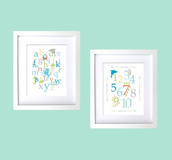 Ocean Themed Baby Nursery Wall Decor By Fancyprintsforhome On Etsy 30 00 Pair Of Letter