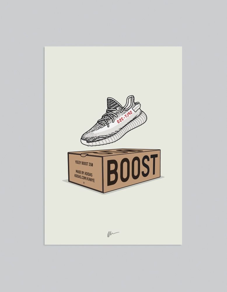abc865653 Originally created Yeezy 350 v2 Zebra CP9654 illustration. The ideal for  the home or office