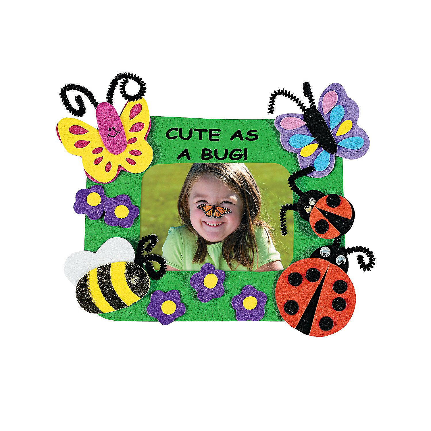 Cute as a bug picture frame magnet craft kit orientaltrading picture frame magnet craft kit orientaltrading jeuxipadfo Gallery