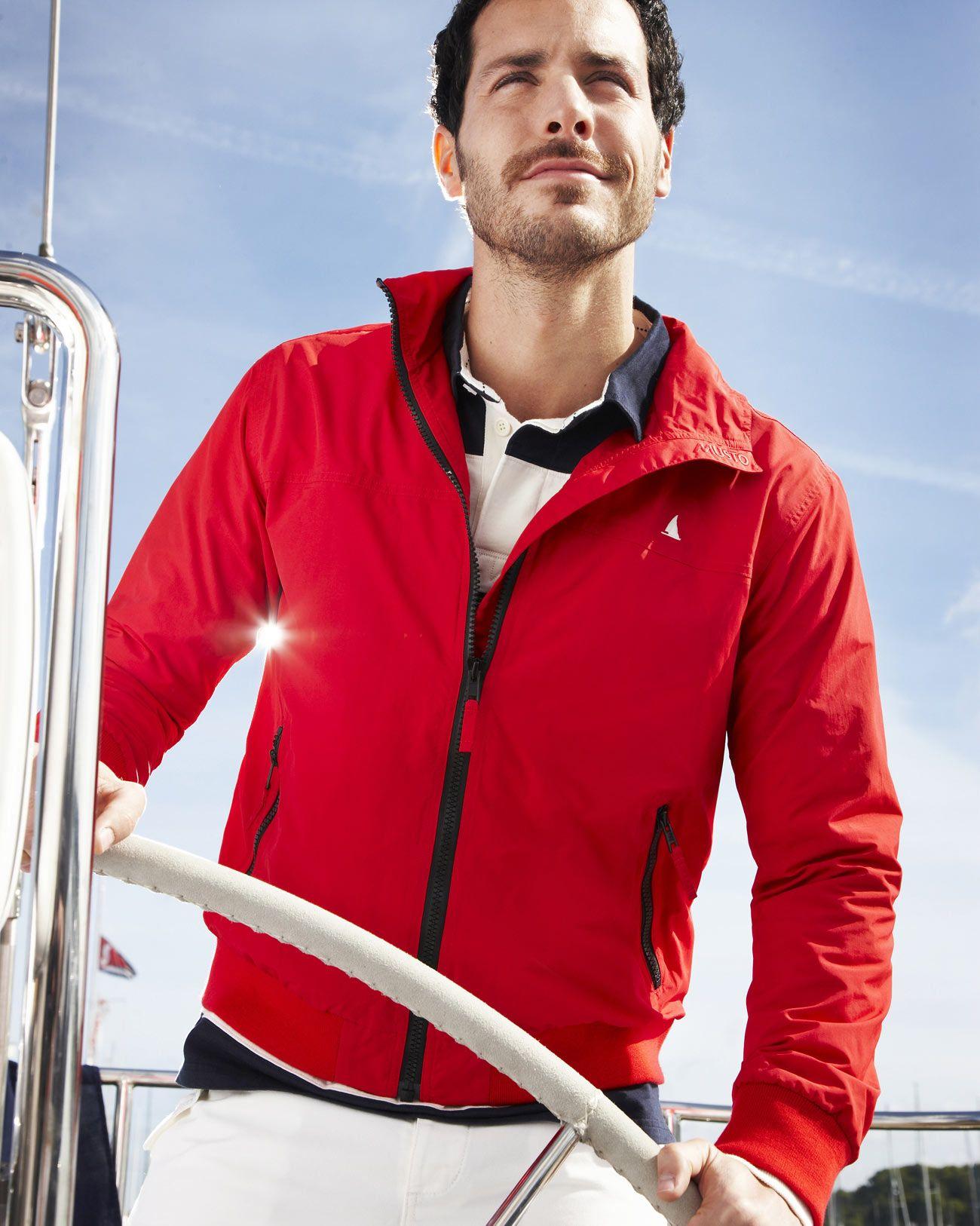 MUSTO red nautical Seoul Sailing Blouson