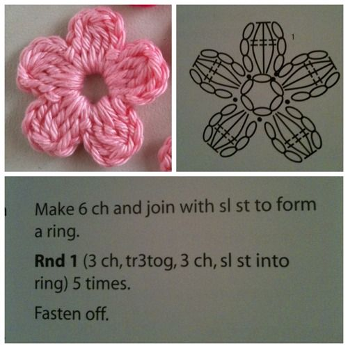 maria-cro: pattern for the cute flowers :) i... | Pinterest | Las ...