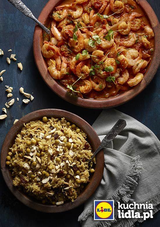 Krewetki W Sosie Pachnacym Indiami Z Ryzem Basmati Kuchnia Lidla