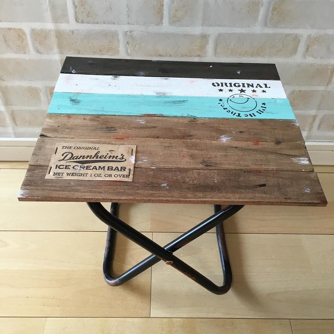 ダイソー セリアのパイプ椅子を 男前なラックやテーブルにリメイク Folk アウトドア テーブル パイプ椅子 100均 テーブル