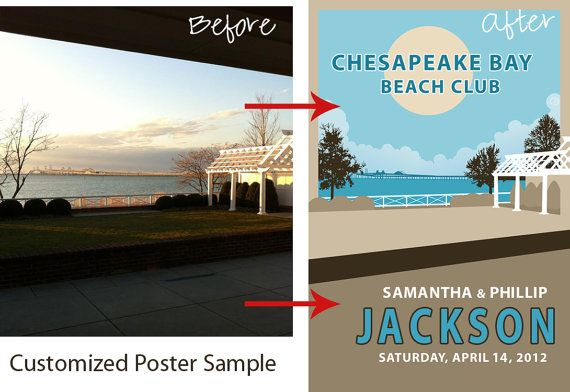 custom wedding poster based off of venue or themelove!! J Gal