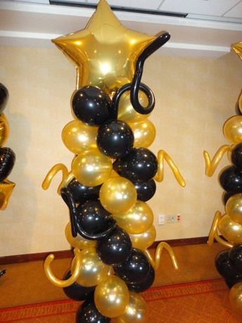 Black And Gold Balloons Star Balloons In Scottsdale Az With Images 50th Birthday Party Decorations Balloon Decorations Party Balloon Decorations Graduation