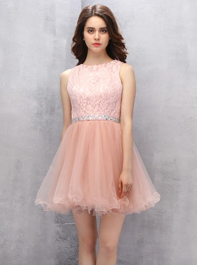 Peach Homecoming Dresses Lace Sweet 16 Dress Freshman Short Wishingdress