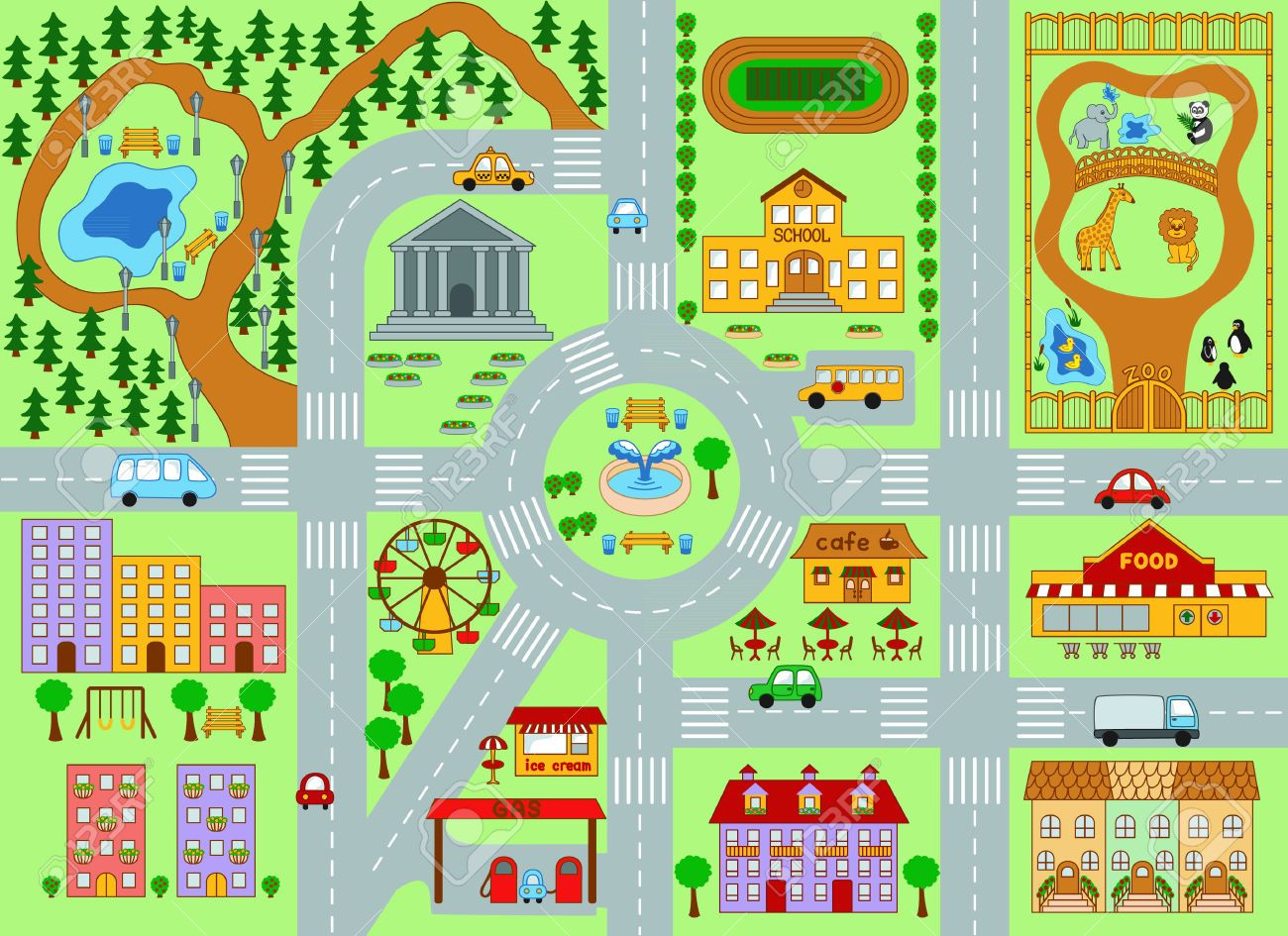 Maps Clipart City Plan 1