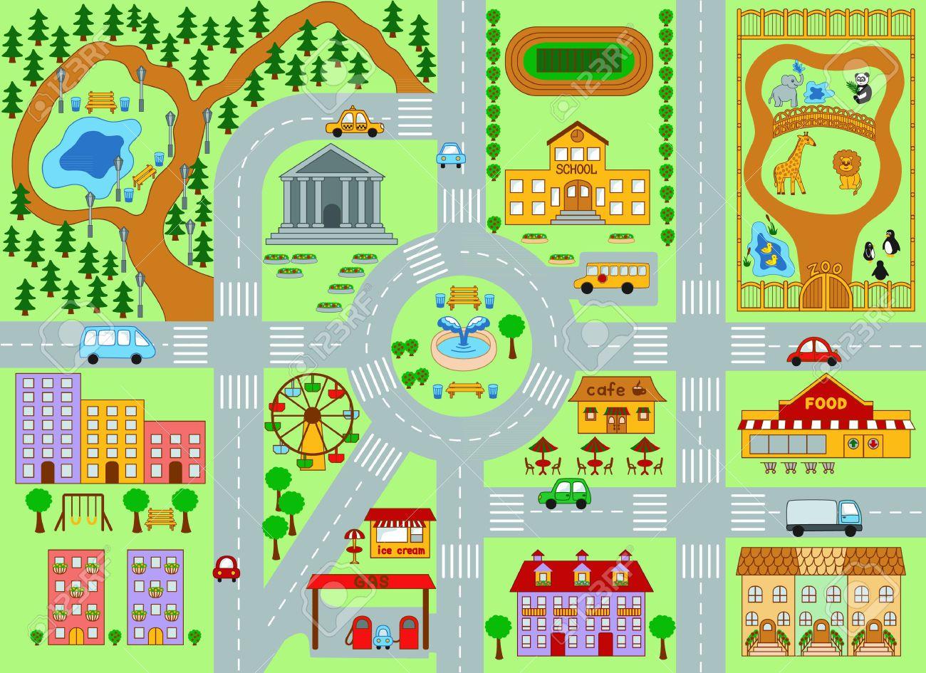 Maps Clipart City Plan 1