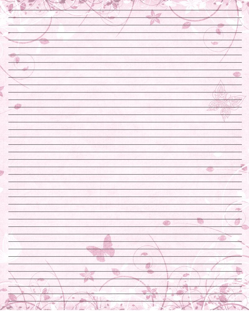 Butterfly Print Paper  Printable Writing Paper  By Lady