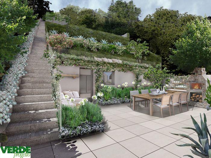 Progetto giardino online giardino pensile progetti di for Mobili per terrazzi e giardini