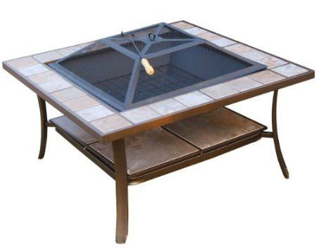 Amazon Com Outsunny 36 Square Outdoor Backyard Patio Firepit Table Patio Lawn Garden 135 Fire Pit Table Fire Pit Patio Outdoor Backyard
