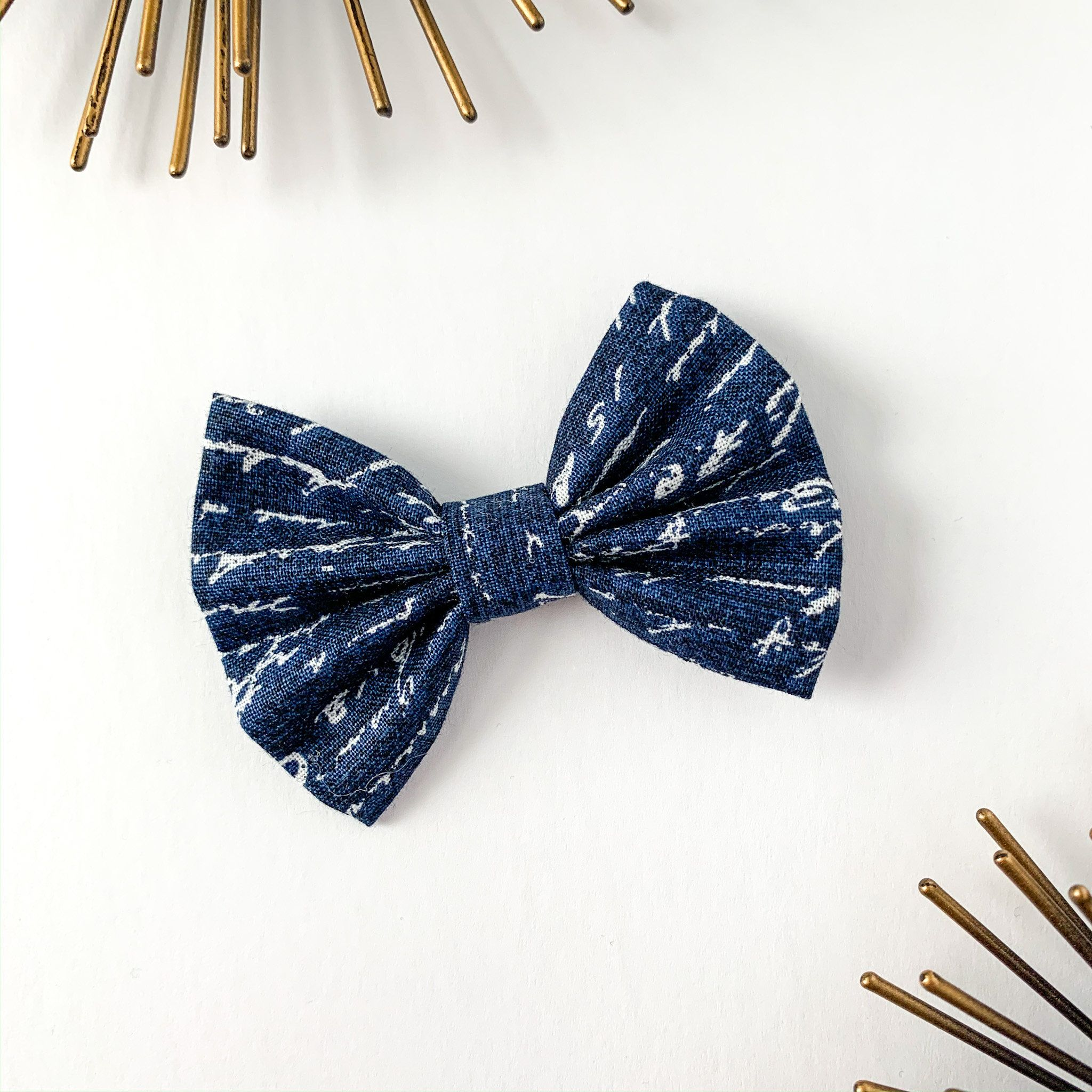 Excited to share this item from my #etsy shop: Navy Girls Hair Bow