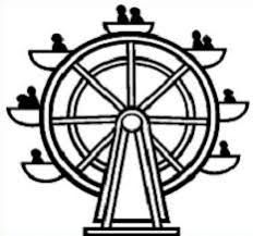 Image result for ferris wheel black and white clipart