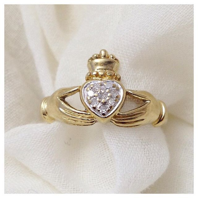 The Claddagh Ring, a 17th C design has become an emblem of Irish Identity. It represents love, friendship and loyalty.