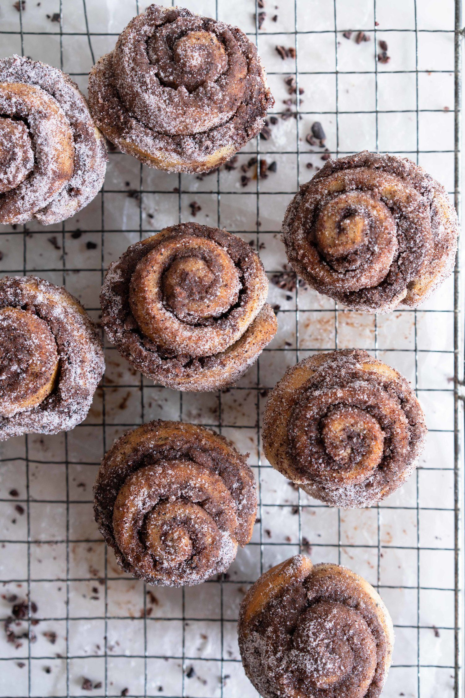 Earl Grey Buns With Dark Chocolate And Cocoa Nib Filling