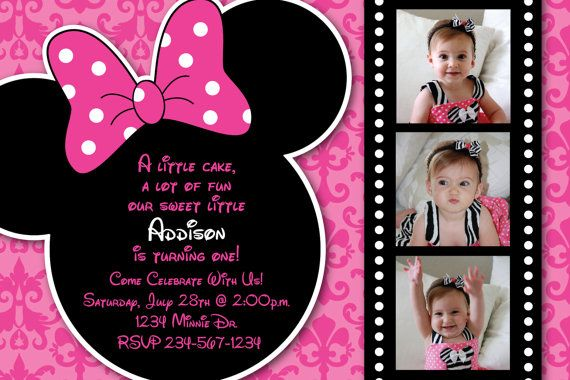 Minnie mouse damask background birthday party custom invitation or minnie mouse damask background birthday party custom invitation or thank you card 1 3 photo option via etsy filmwisefo