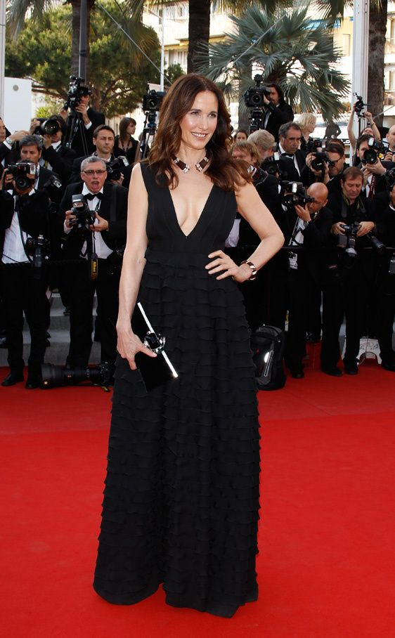 Andie MacDowell, Armani, Cannes 2012