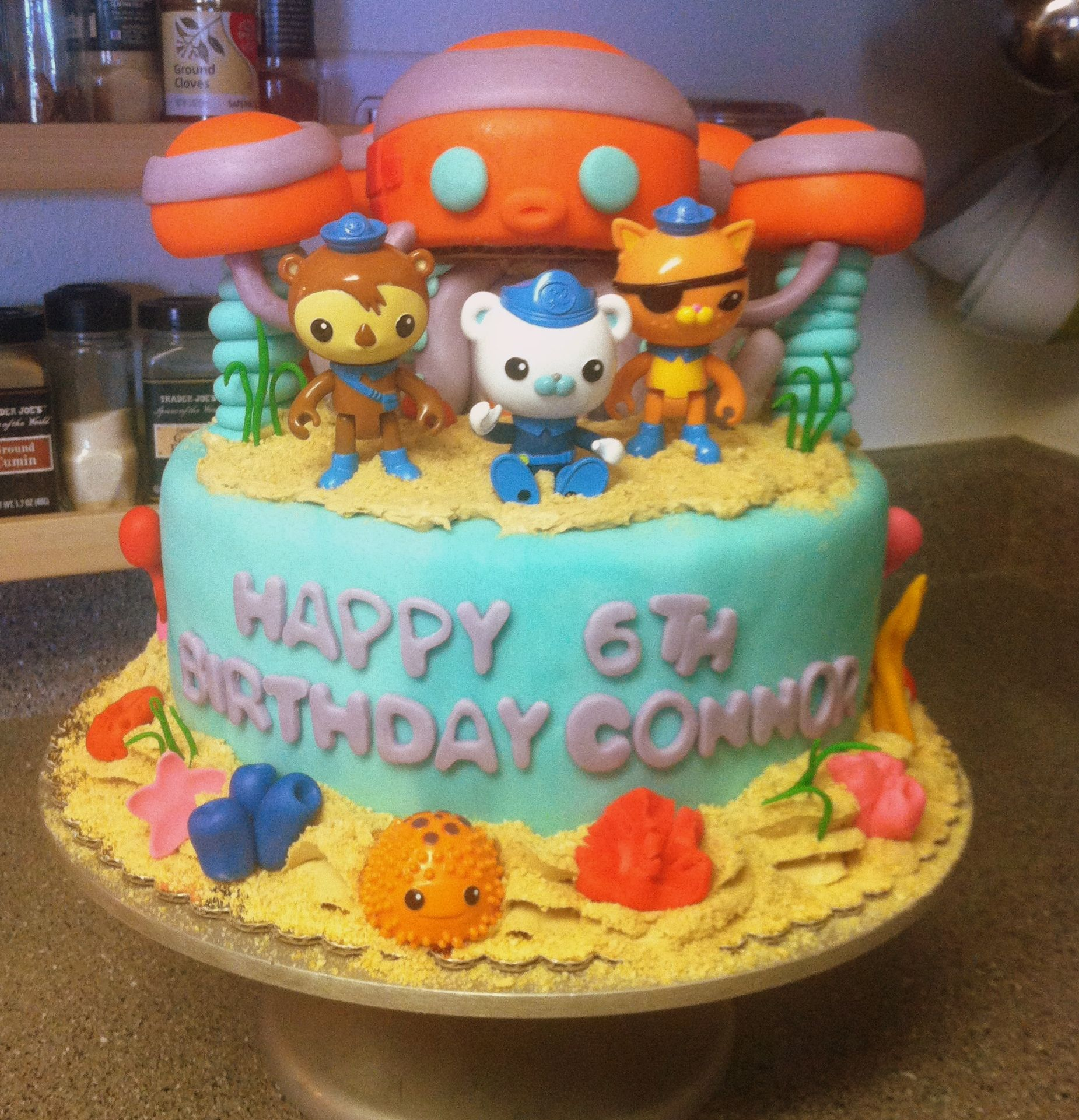 Octonauts Octopod Birthday Cake Fin Pinterest