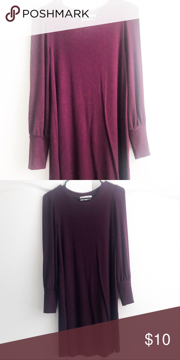 21689e2fb19e Midi sweater dress It is a purple long sleeve midi sweater dress Pink Rose Dresses  Midi