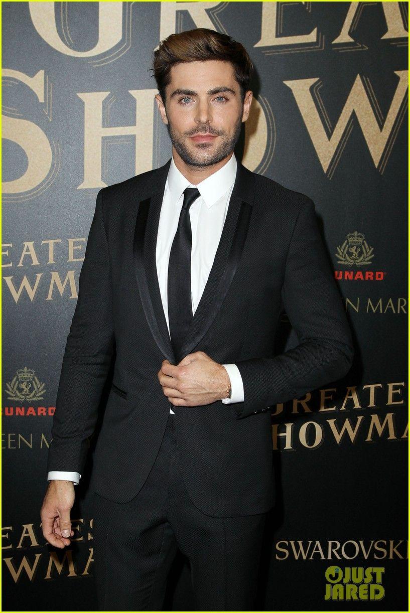 Image result for zac efron greatest showman premiere