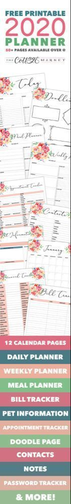 Free Printable 2020 Planner 50 Plus Printable Pages #50freeprintables Free Printable 2020 Planner 50 Plus Printable Pages!!! - The Cottage Market #50freeprintables Free Printable 2020 Planner 50 Plus Printable Pages #50freeprintables Free Printable 2020 Planner 50 Plus Printable Pages!!! - The Cottage Market #50freeprintables Free Printable 2020 Planner 50 Plus Printable Pages #50freeprintables Free Printable 2020 Planner 50 Plus Printable Pages!!! - The Cottage Market #50freeprintables Free Pri #50freeprintables