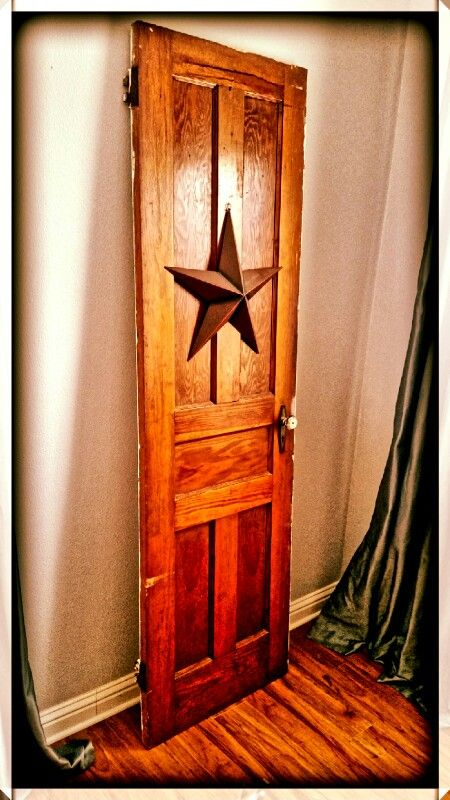 Antique door find for $25.00 at restore.  Propped it in my family room against the wall.