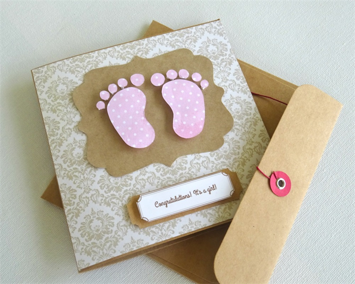 Baby girl gift card baby shower card gift card baby feet baby girl gift card baby shower card gift card baby feet newborn negle Gallery