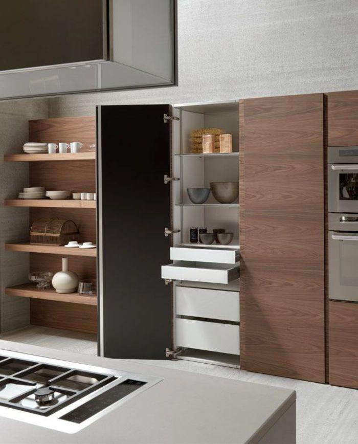 küche einrichten praktisch offene regale kücheninsel Küche - küchenzeile ohne hängeschränke