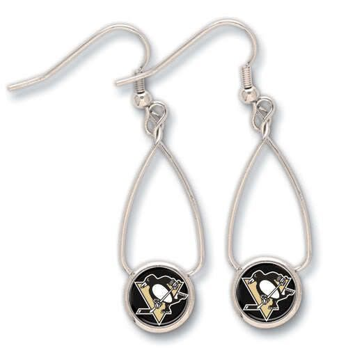 Pittsburgh Penguins French Loop Earrings - Sunset Key Chains